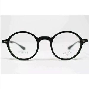 Rayban liteforce black round eyeglasses frame new